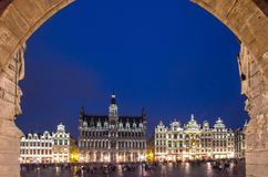 Museum of the City of Brussels - The Broodhuis Maison du Roi,. Panorama of the Museum of the City of Brussels on Grand Place in Brussel, Belgium Stock Image