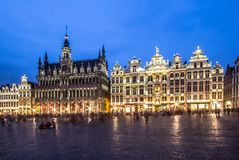 Museum of the City of Brussels - The Broodhuis Maison du Roi,. Panorama of the Museum of the City of Brussels on Grand Place in Brussel, Belgium Stock Images