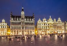Museum of the City of Brussels - The Broodhuis Maison du Roi,. Panorama of the Museum of the City of Brussels on Grand Place in Brussel, Belgium Royalty Free Stock Photo