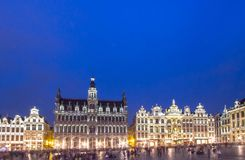 Museum of the City of Brussels - The Broodhuis Maison du Roi,. Panorama of the Museum of the City of Brussels on Grand Place in Brussel, Belgium Royalty Free Stock Images