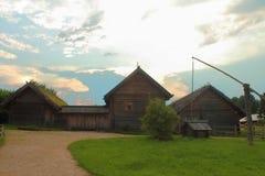 The Museum complex named The Pushkin village. Bugrovo, Pskov Region, Russia. BUGROVO, PUSHKINSKIYE GORY, or Pushkin Hills, PSKOV REGION, RUSSIA - August 2017 Royalty Free Stock Image