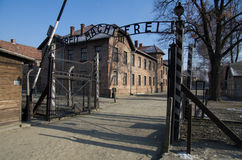 Museum  of concentration camp Auschwitz,Poland Royalty Free Stock Photos