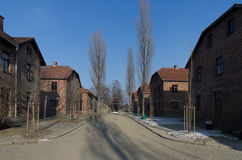 Museum  of concentration camp Oswiecim/Auschwitz Royalty Free Stock Photo