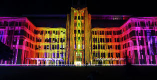 Museum of Contemporary Art Building during Vivid Sydney Royalty Free Stock Photo
