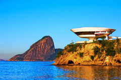 Museum of contemporary art in niteroi Stock Photography