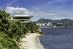 Museum of Contemporary Art in Niteroi Royalty Free Stock Image