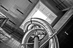 Museum of contemporary art in Zagreb exterior view. Royalty Free Stock Image