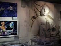 In Museum of Cosmonautics. The history of space exploration. Stock Photos