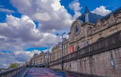 D`Orsay Museum from the Seine River stock image