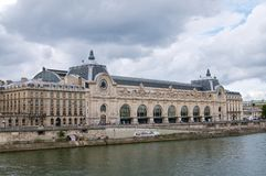 Museum d'Orsay river view Royalty Free Stock Image