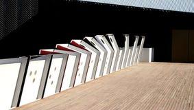 Museum, das abstraktes #6 aufbaut Stockfoto