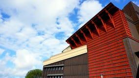 Museum de bouwarchitectuur in Stockholm Stock Foto