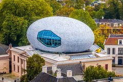 Museum De Fundatie Is A Museum For The Visual Arts In Zwolle With It Unique Egg Shaped Structure On The Roof Royalty Free Stock Photo