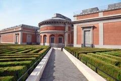 Museum del Prado Arbeta i trädgården på fjädrar solig dag Arkivfoto