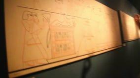Museum der Einbalsamierung in Luxor Ägypten stock footage