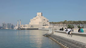 Museum der islamischen Kunst in Doha Katar, stock footage