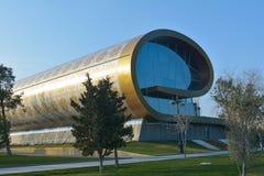 Museum des Azerbaijani Teppichs, Anblick von Baku Stockfotografie