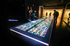 Museum des Barcelona-Fußballvereins Stockbilder