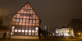 Museum detmold germany in the evening. The museum detmold germany in the evening Stock Photography