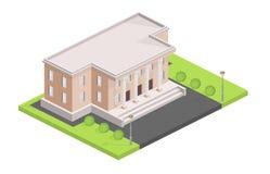 Museum die isometrische vectorillustratie bouwen royalty-vrije illustratie