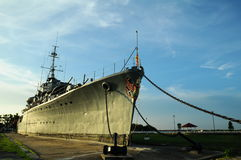 Museum of discharge battleship Royalty Free Stock Photography