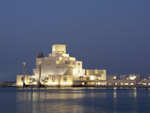 The museum in Doha at dusk Stock Image