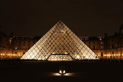 Museum du Louvre night view Paris France Stock Photography