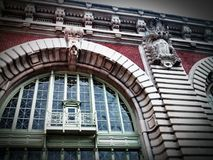 Museum at Ellis Island. Beautiful Art Deco Building at Ellis Island Stock Image
