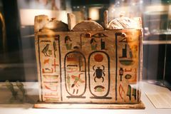 Museum of Embalming at Luxor, Egypt. 20 September 2017 Arts inside Museum of Embalming at Luxor, Egypt stock photography