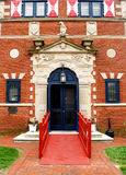 Museum Entrance. Ornate entrance to the Zwaanendael Museum in Lewes, Delaware Royalty Free Stock Image