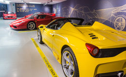 Museum Enzo Ferrari. Exhibition hall of sport cars Ferrari Royalty Free Stock Photography