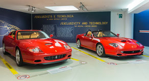 Museum Enzo Ferrari. Exhibition hall of sport cars Ferrari Royalty Free Stock Images