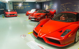 Museum Enzo Ferrari. Exhibition hall of sport cars Ferrari Stock Images