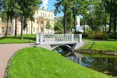 Walking through the garden. Estate Museum Derzhavin. St. Petersburg. stock photo