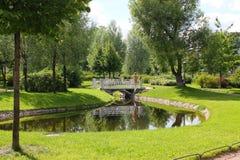 Manor Garden of Gabriel Romanovich Derzhavin. St. Petersburg. royalty free stock photo