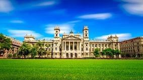 Museum of Ethnography ,budapest. Long exposure Royalty Free Stock Photo