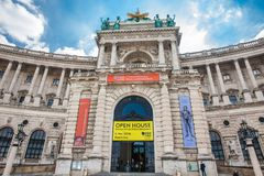 The Museum of Ethnology housed in a wing of the Hofburg Imperial Palace. VIENNA, AUSTRIA - APRIL, 2018: The Museum of Ethnology housed in a wing of the Hofburg stock photos