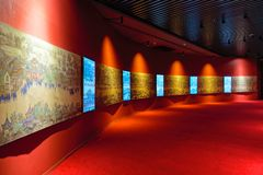 Museum exhibition hall royalty free stock photo