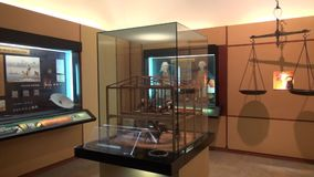 Museum Exhibits, Artwork, Culture. Stock video of musem exhibits stock footage