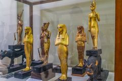 National Cairo Museum Expans dedicated to Ancient Egypt, Pharaohs, Mummies and Egyptian Pyramids stock photo