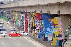 Museum för öppen luft av stads- konst i Sao Paulo Royaltyfri Bild