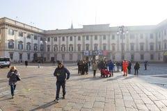 Museum för kupol för Milan ` s Royaltyfri Bild