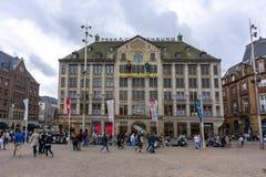 Museum för madam Tussauds på fördämningfyrkanten, Amsterdam, Nederländerna royaltyfri bild
