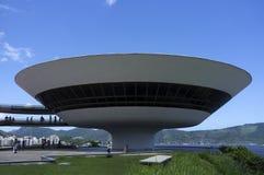 Museum för modern konst (MAC) i Niteroi - Rio de Janeiro Brasilien Arkivbild