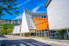 Museum för MUSA för Renzo Piano ` s modernt av naturhistoria i Trento Italien Arkivbilder
