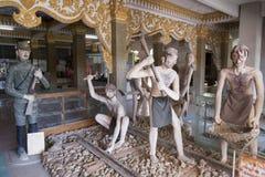 MUSEUM FÖR THAILAND KANCHANABURI VÄRLDSKRIG 2 Arkivbilder