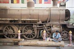 MUSEUM FÖR THAILAND KANCHANABURI VÄRLDSKRIG 2 Arkivfoton