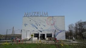 Museum f?r Moderne Kunst in Warschau stock footage