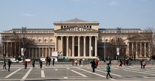 Museum of Fine Arts. Building of Museum of Fine Arts on Heroes` square in Budapest Royalty Free Stock Photo