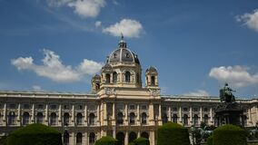 Museum of Fine Arts history in Vienna, Austria. Time lapse
